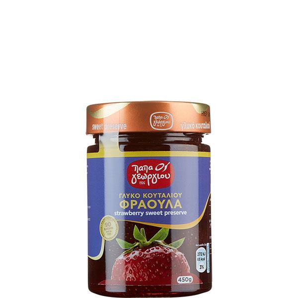 Erdbeeren eingelegt in Sirup (450g) Papageorgiou