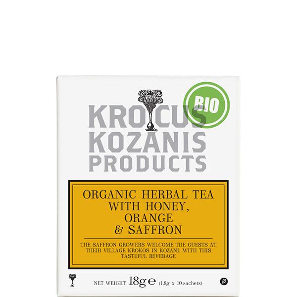 Tee mit Honig & Orange & Safran BIO (18g) Kozani